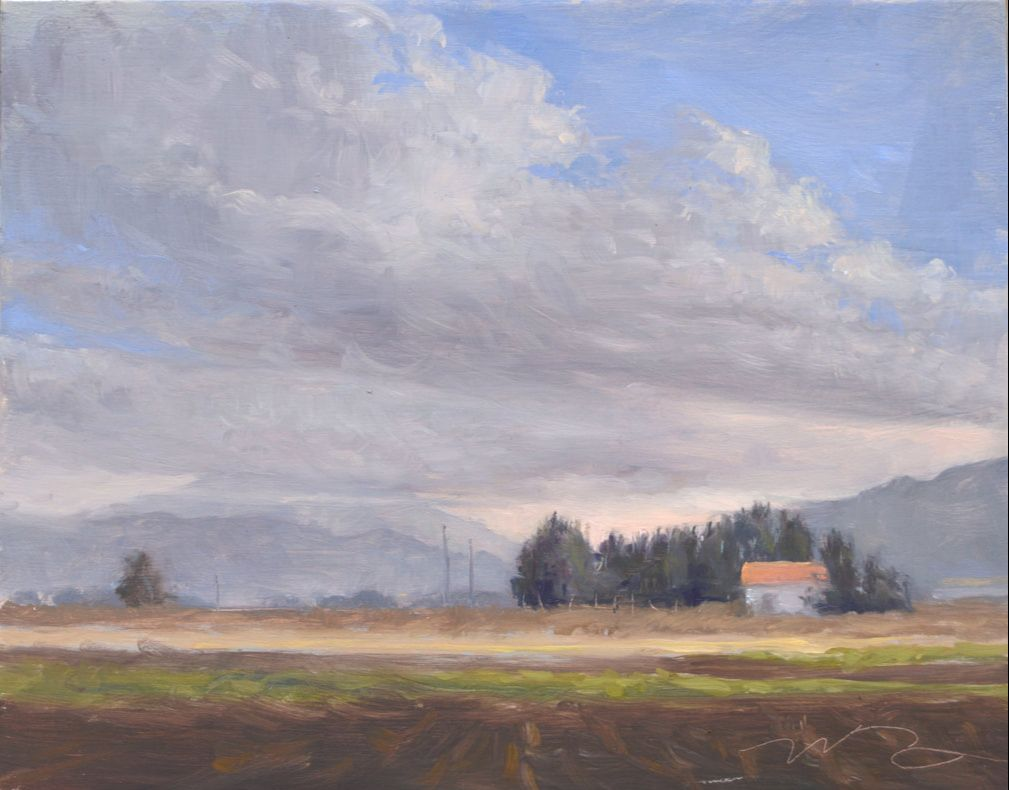 landscape painting Italian countryside