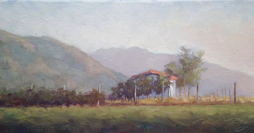 landscape painting Italy